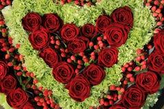 Red rose wedding arrangement Royalty Free Stock Images