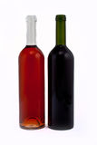Red and rose wine bottles Stock Photo