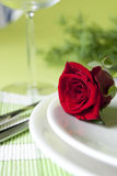 Red rose and wine class Stock Images