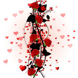 Red roses. Valentine  red roses design background Stock Image