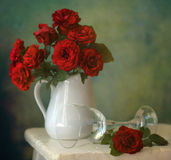 Red roses. Still life with bouquet of roses Stock Image