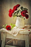 Red roses. Still life with bouquet of roses Royalty Free Stock Image