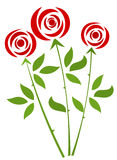Red Roses. Bunch. Vector illustration Stock Photography