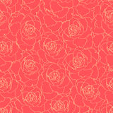 Red roses. Seamless pattern with red roses Royalty Free Stock Photos