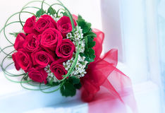 Red roses. Closeup on beautiful red roses Stock Image