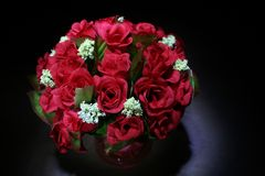 Red Roses. A bouquet of artificial red roses Stock Photo