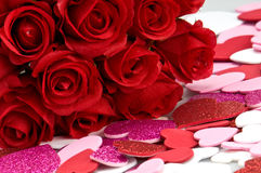 Red roses ans valentines Royalty Free Stock Image