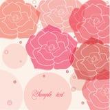 Red roses background stock illustration