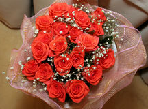Red roses background. Bouquet red roses background wedding royalty free stock photo