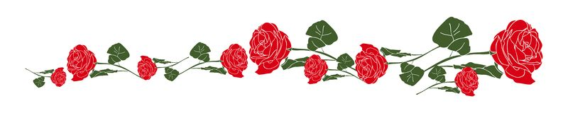 Red roses banner  Stock Photography