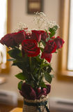 Red Roses in a Basket Royalty Free Stock Photo