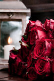 Red roses. Beautiful flowers in the bouquet Christmas Stock Images