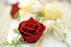 Red roses bouquet. Beautiful and elegant bouquet of red roses Stock Photos