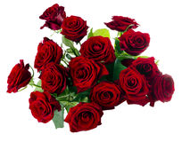 Red Roses Bouquet. Isolated on white Stock Photos