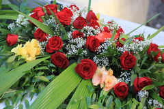 Red roses. Bridal bouquet of red roses royalty free stock images