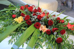 Red roses. Bridal bouquet of red roses royalty free stock photo