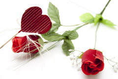 Red roses with dear symbol Royalty Free Stock Photos