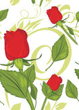 Red roses on the decorative background. Pattern for design. Illustration Royalty Free Stock Photo