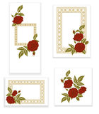 Red roses, element for design, invitation template Stock Photography