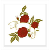 Red roses, element for design Royalty Free Stock Images