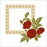 Red roses, element for design, invitation template Stock Photo