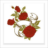Red roses, element for design Stock Photos