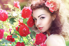 Red roses fashion Royalty Free Stock Photo