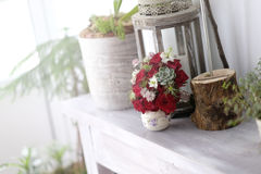 Red roses floral arrangements Stock Photography