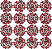 Red Roses Floral pattern. Red lace roses on white backdrop. Digital background vector seamless pattern print Stock Images