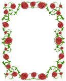 Red Roses Floral Photo Frame Stock Photo
