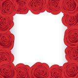 Red roses frame. With place for your text Stock Photo