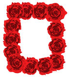 Red roses frame. Illustration Red roses frame with white space for copy for Valentine's day Stock Image