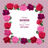 Red roses frame Royalty Free Stock Images