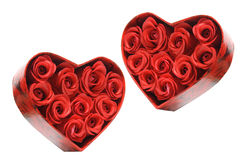 Red Roses in Gift Boxes Royalty Free Stock Photography