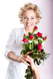 Red roses gift for Valentine's  Day Royalty Free Stock Image