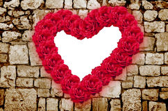 Red roses heart Stock Photos