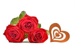 Red Roses and Heart Stock Image