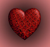 Red Roses Heart Royalty Free Stock Image