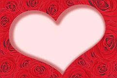 Red roses and heart inside Stock Image