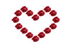 Red Roses Heart Shape Stock Photography