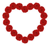Red Roses Heart Stock Images