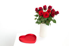 Red Roses with heart Royalty Free Stock Photography
