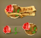 Red roses icons Royalty Free Stock Photo