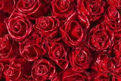 Red roses made of wax Stock Images