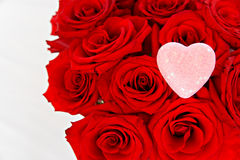 Red Roses with a Pink Heart Royalty Free Stock Images