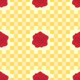 Red roses provence style seamless pattern Royalty Free Stock Photos