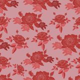 Red roses seamless pattern royalty free illustration