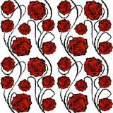 Red Roses. Seamless vector pattern. Royalty Free Stock Images