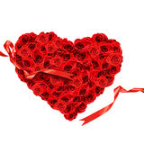 Red roses in the shape of a heart royalty free stock photos