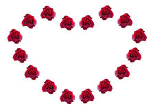 Red roses in a shape of heart. Stock Photography